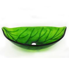 Have a nature themed bathroom and accent it with this Leaf Design Glass Vessel Sink. This sink is molded in a leaf shape pattern in green transparent tempered glass. Glass Vessel Sinks, Vessel Sink Bathroom, Laundry In Bathroom, Downstairs Bathroom, Leaf Shapes, Leaf Design, Decorative Bowls, Home Improvement, Bathroom Ideas