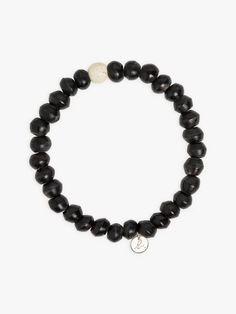 bracelet olivier noir en perles de bois | agnès b. Beaded Necklace, Bracelets, Jewelry, Olive Tree, Beads, Woodwind Instrument, Accessories, Beaded Collar, Jewlery