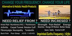 Alternative & Holistic Health Products     True Frequency Products at the New Cutting Edge Technology that is taking the world by storm improves your balance and the all natural pain relief and good health. This is NOT Copper or NO Magnet. It is all natural grounding/frequency that is the same frequency of the Earth.Health Bracelets,Necklaces and Rings.
