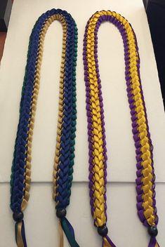 Handmade Double Braided Ribbon Lei Graduation by Homemadegoods819