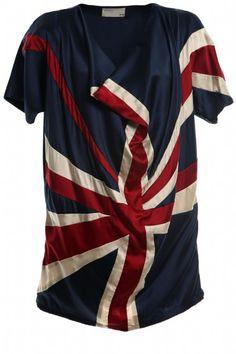 union jack ladies shirt
