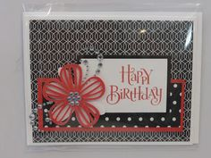La Vie En Rose paper packet.  CTMH.  Close to my Heart.  Happy Birthday Card.  Artistry Cricut Cartridge.