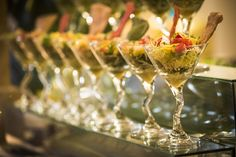 Martini glasses are not just for martinis! Martinis, Corporate Events, Theater, Table Decorations, Glasses, Holiday, Party, Summer, Home Decor