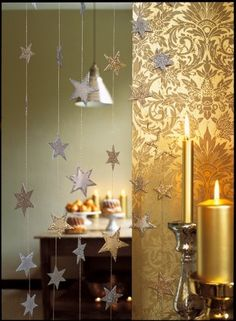Stars | Christmas, New Year, Holiday or birthday party decoration. DIY paper craft banner & bunting decorations.