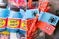 Spiderman Party Drinks