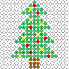 www.juf-lisanne.nl Kralenplank kerstboom.
