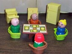 fisher price 1970's toys - original little people! This just makes me smile. The hours I spent with these toys......!!!!!