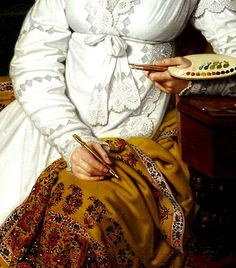 the-garden-of-delights@tumblr: Portrait of A. G. and A. A. Lobanov Rostovsky (1814) detail by Vladimir Borovikovsky