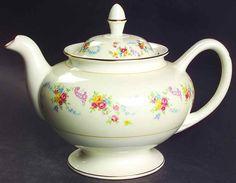 Homer Laughlin DUBARRY Tea Pot 220382 #HomerLaughlin