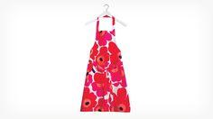 Tablier Marimekko fleurs rouges