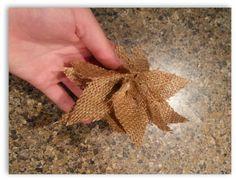Hometalk   How to make burlap poinsettia Christmas ornaments