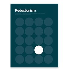 Reductionism Poster featured on Fab Study Design, Cool Art, Awesome Art, Graphic Design, Inspiration, A3, Posters, Graphics, Products
