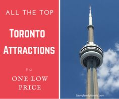 A Guide for How to Visit All the Top Toronto Attractions For One Low PriceSavvy Family Travels Travel With Kids, Family Travel, Travel Advice, Travel Tips, Toronto Vacation, Niagara Falls New York, Visit Toronto, Autumn In New York, Attraction
