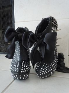High+Heel+Platform+Spiked++Women+Wedge+Ankle+Booties+by+Spikesbyg