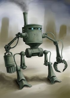 Steampunk Robot by JohnMalcolm1970