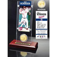 Max Scherzer Washington Nationals Ticket & Bronze Coin Acrylic Desk Top - $31.99