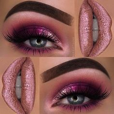 Pretty Pink Glitter Eye Makeup Look #GlitterProjects