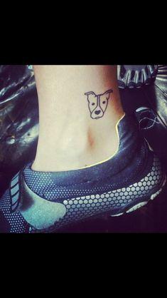 Tiny Pitbull tattoo  may need to get this soon.