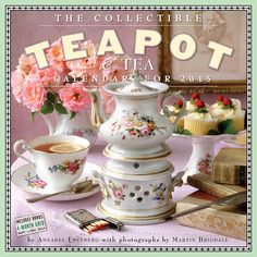 The Collectible Teapot and Tea 2015 Wall Calendar | CALENDARS.COM - $13.99 | Celebrate twenty years of the calendar that brings the delightful ritual of afternoon tea to every month with a vintage tea set and a spread of treats. It's a lovely tribute to teatime and the beautifully decorated teapots that are at its heart.