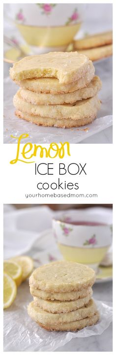 Lemon Ice Box Cookies. Great summer time dessert recipe.