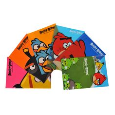 Official Angry Birds Licensed Clear Poly Index A4 Folders, Letter, Assorted, 6/Pack