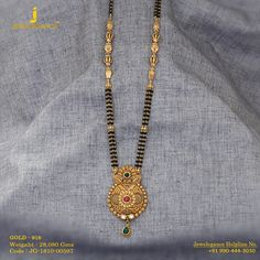 Gold 916 Premium Design Get in touch with us on Gold Mangalsutra Designs, Gold Jewellery Design, Diy Jewelry Necklace, Black Gold Jewelry, Jewelry Collection, Chains, Henna, Touch, India