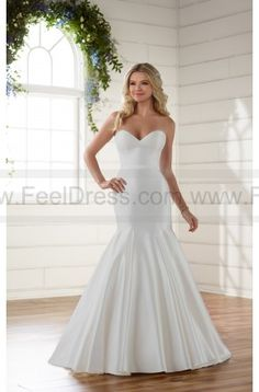 Essense of Australia Chic And Simple Strapless Fit And Flare Wedding Dress Style D2216 on sale at reasonable prices, buy cheap Essense of Australia Chic And Simple Strapless Fit And Flare Wedding Dress Style D2216 at www.feeldress.com now!
