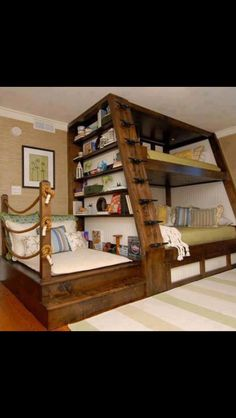 Love this bunk bed design