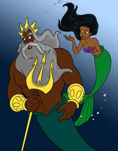 Black version of Ariel and King Titan
