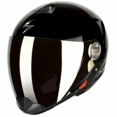 Scorpion Dual Homologation helmet in Black Open Face Motorcycle Helmets, Biker Helmets, Motorcycle Outfit, Cool Boys Room, Moto Bike, Riding Gear, Sport Bikes, Gears, Exo