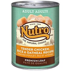 NUTRO Adult Tender Chicken, Rice and Oatmeal Premium Loaf Canned Dog Food oz. (Pack of by Nutro Core Wet Dog ~~ You could find out more details at the link of the image. (This is an affiliate link and I receive a commission for the sales) Pea Recipes, Dog Food Recipes, Snack Recipes, Wet Dog Food, Dry Cat Food, Slow Cooked Chicken, Chicken Rice, Chicken Livers, Chicken Tenders
