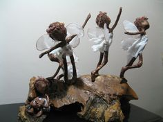 Fairy fledglings fairy flying school por Stephaniessculptures