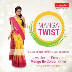 Jayalakshmi presents Mango Bi Colour saree