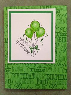 Green Birthday Celebration by Jennifrann - Cards and Paper Crafts at Splitcoaststampers