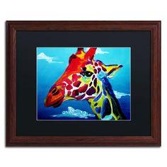 'Giraffe' by DawgArt Framed Painting Print