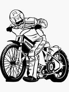 'Motorcycle Speedway Racer' Sticker by Port-Stevens Speedway Motorcycles, Speedway Racing, Norton Cafe Racer, Triumph Cafe Racer, Modern Cafe Racer, Vintage Cafe Racer, Scrambler Motorcycle, Bmx
