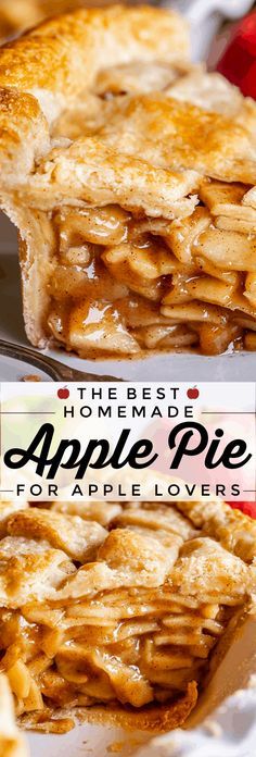 Apple Pie Recipe Easy, Best Apple Pie, Easy Pie Recipes, Homemade Apple Pies, Apple Pie Recipes, Sweet Recipes, Baking Recipes, Fruit Recipes, Apples For Apple Pie