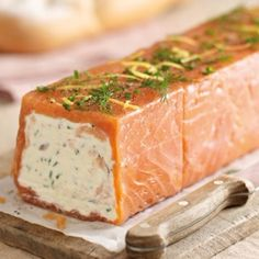 Salmon Terrine recipe - From Lakeland (smoked salmon canapes) Fish Recipes, Seafood Recipes, Appetizer Recipes, Cooking Recipes, Healthy Recipes, Loaf Recipes, Appetizers, Salmon Terrine Recipes, Smoked Salmon Terrine