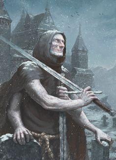 ArtStation - the albino guard, Maksim Vorontsov Fantasy City, High Fantasy, Medieval Fantasy, Dark Fantasy Art, Fantasy World, Character Concept, Character Art, Concept Art, Fantasy Monster