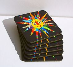 Six Here Comes the Sun coasters £15.00