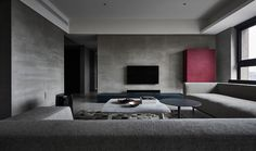Boundary is a minimalist interior design located in Taipei, Taiwan, designed by Wei Yi International Design Associates. Luxury Apartments, Luxury Homes, Living Room Decor, Living Spaces, Living Rooms, Industrial Apartment, Apartment Interior Design, Interior Ideas, Interior Modern