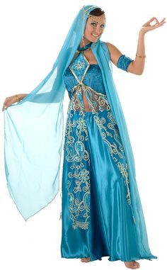 Deluxe Sparkling Sapphire Belly Dancer Costume