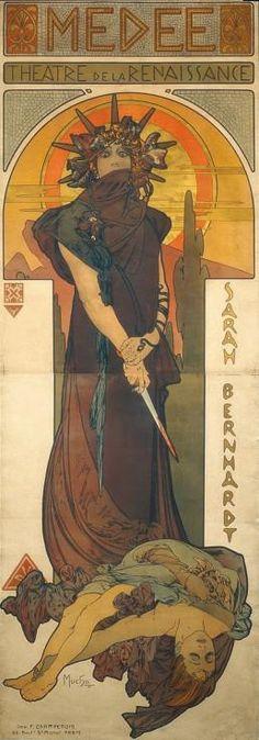 Alphonse Mucha – part 3 Art Nouveau, Art Deco, Alphonse Mucha, Greek Plays, Modern Art, Contemporary Art, Renaissance Paintings, Reproduction, Gustav Klimt