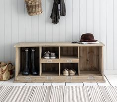 This useful firwood welly storage bench is a great way to store your dirty wellies and shoes whilst looking great in your home. Use this shoe storage bench in your hallway to keep the area tidy and stylish. Shoe Bench, Bench With Shoe Storage, Outdoor Shoe Storage, Storage Benches, Hallway Storage Bench, Locker Storage, Hallway Seating, Hall Bench, Shoe Cupboard
