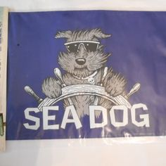 Pirate SEA DOG 12″ x 18″ Two Sided Flag