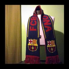 Barcelona fc scarf Once purchased you will receive in less than a week no matter where in the USA . Buy with confidence. We have soccer jerseys uniforms for kids adult of messi barcelona ronaldo Real Madrid also Soccer balls etc. If you would like another item besides this ask us and we will see if still available. Accessories Scarves & Wraps