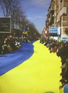 Zaporizhzhya yesterday. These are the non-paid and non-Moscow-directed citizens Photo via Maxmet Talzak