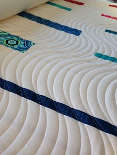 I adore the wavy quilting here by Gemma Jackson of Pretty Bobbins.