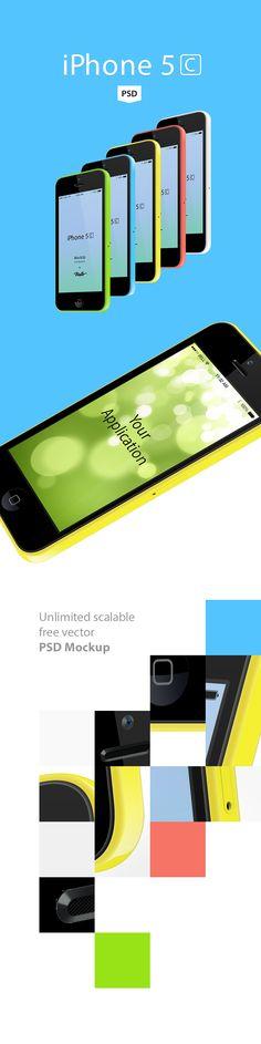 iPhone 5c free vector PSD