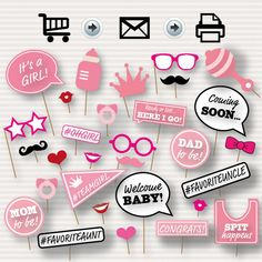 Baby Shower Printable Photo Booth Props Baby por SurpriseINC